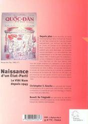 Naissance D'Un Etat Parti : Le Viet Nam Depuis 1945 - 4ème de couverture - Format classique
