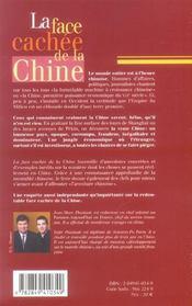 La Face Cachee De La Chine - 4ème de couverture - Format classique