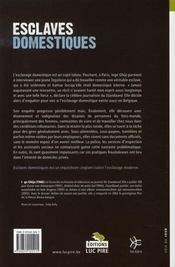 Esclaves domestiques ; humilié(e)s, violé(e)s, caché(e)s - 4ème de couverture - Format classique