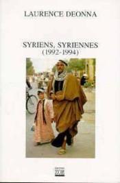 Syriens, Syriennes (1992-1994) - Couverture - Format classique