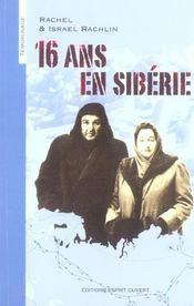 16 ans en Sibérie - Intérieur - Format classique