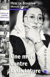 Une mère contre la dictature - Couverture - Format classique