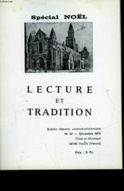 Lecture Et Tradition - N°57 - Couverture - Format classique