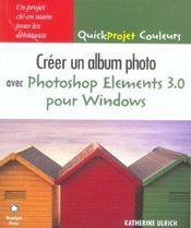 Creer un album photo avec photoshop elements 3.0 pour windows - Intérieur - Format classique