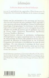 Poetique Du Lisuel - 4ème de couverture - Format classique