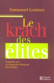 Le Krach Des Elites - Intérieur - Format classique