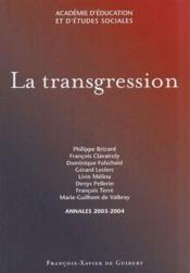 La transgression - Couverture - Format classique