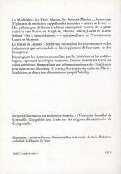 Les saintes de la mer : Madeleine, Marthe ; les saintes maries : de la Provence à la Bourgogne - 4ème de couverture - Format classique