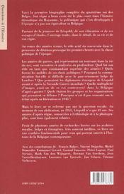 Leopold iii - 4ème de couverture - Format classique