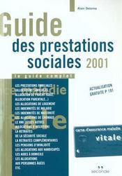 Guides des prestations sociales 2001 - Intérieur - Format classique