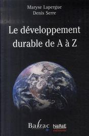 Le developpement durable de a a z - Intérieur - Format classique
