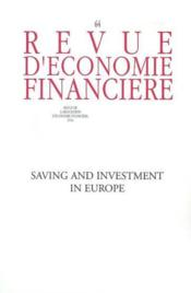 Vente  Saving and investment in europe no 64 - n  64  - Collectif