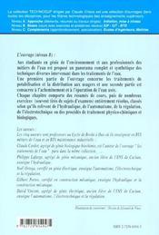 Genie De L'Environnment Techniques Appliquees Au Traitement De L'Eau Hydraulique Electrotechnique - 4ème de couverture - Format classique