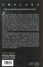 Rackets - 4ème de couverture - Format classique