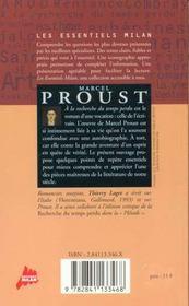 Marcel Proust - 4ème de couverture - Format classique