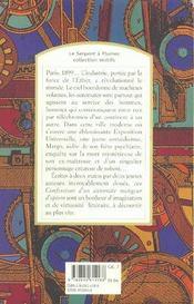 Les confessions d'un automate mangeur d'opium - 4ème de couverture - Format classique