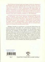 Noir Et Rouge. Itineraire Social, Culturel Et Politique Pretre Patrio Te, 1736-1799. - 4ème de couverture - Format classique