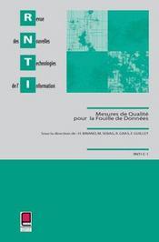 Mesures de qualites pour la fouille de donnees - Intérieur - Format classique