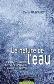 Nature de l'eau - Couverture - Format classique