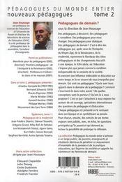 Nouveaux pedagogues t.2 ; pédagogues de demain ? - 4ème de couverture - Format classique
