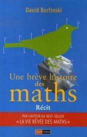 Une brève histoire des maths - Intérieur - Format classique