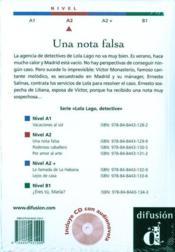 Una Nota Falsa + Cd (Nivel 1) - 4ème de couverture - Format classique