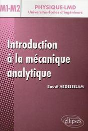 Introduction à la mécanique analytique niveau master 1 et 2 - Intérieur - Format classique