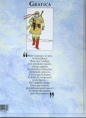 Neige t.1 ; les brumes aveugles - 4ème de couverture - Format classique