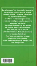 Bonnes recettes ; cholesterol - 4ème de couverture - Format classique