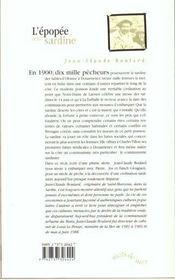 L'epopee de la sardine - 4ème de couverture - Format classique