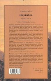 Aquasilva t. 2 ; inquisition - 4ème de couverture - Format classique