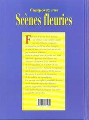 Composez Vos Scenes Fleuries - 4ème de couverture - Format classique