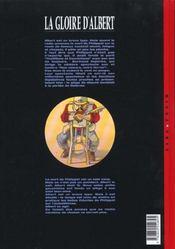 Un monde si tranquille t.1 ; la gloire d'Albert - 4ème de couverture - Format classique