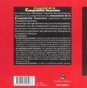 Essentiel De La Comptabilite Financiere (L') - 4ème de couverture - Format classique
