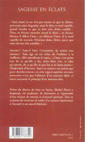 Sagesse En Eclats - 4ème de couverture - Format classique