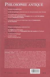 Revue Philosophie Antique N.4 ; Dire, Demontrer, Convaincre - 4ème de couverture - Format classique