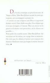 Eloge De L'Amitie - 4ème de couverture - Format classique
