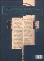 La vengeance du comte Skarbek t.2 ; un coeur de bronze - 4ème de couverture - Format classique