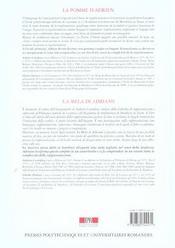 La Pomme D'Adrien Ou De L'Enigme Du Regard - 4ème de couverture - Format classique