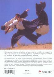 Aikido ; Progression D'Enseignement De La Ceinture Blanche A La Ceinture Noire - 4ème de couverture - Format classique