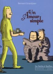 Vente  Un amour simple  - Bernard Grandjean