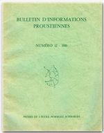 Bulletin D'Informations Proustiennes N.26 - Couverture - Format classique