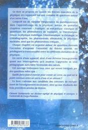 Toute La Physique Dans Un Verre D'Eau - 4ème de couverture - Format classique