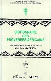 Dictionnaire des proverbes africains - Intérieur - Format classique