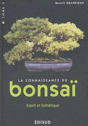 T3 Connaissance Du Bonsai Esprit Et Esthetique - Couverture - Format classique