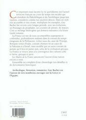 Les Matins De La France, Du Paleolithique A La Fin De De Gaulle - 4ème de couverture - Format classique