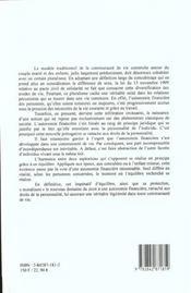 L'Autonomie Financiere Dans La Communaute De Vie - 4ème de couverture - Format classique