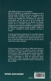 Une histoire d'être ensemble ; la mgen, 1946-2006 - 4ème de couverture - Format classique