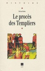 Le procès des Templiers - Couverture - Format classique
