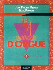 Ma méthode d'orgue t.2 - Couverture - Format classique